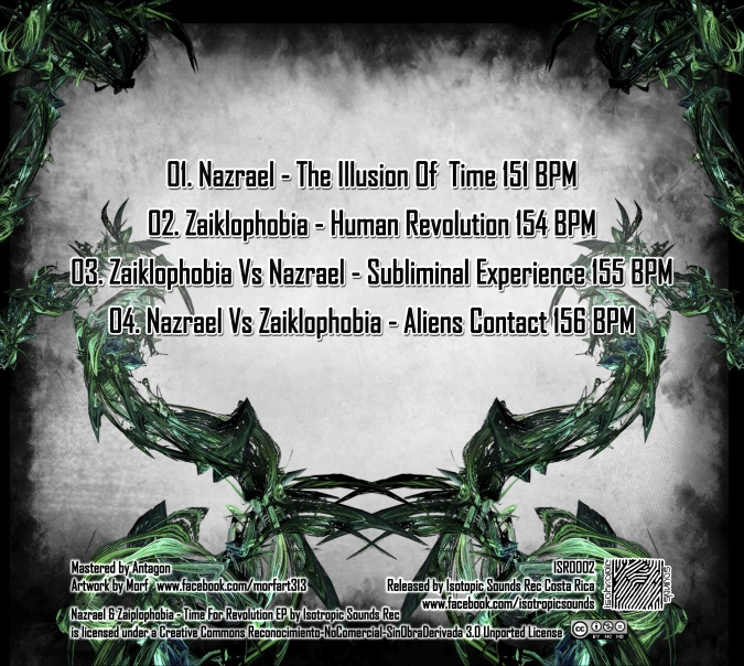 Nazrael & Zaiklophobia - Time For Revolution EP (Isotropic Sounds Records) - 2013- Backcover600