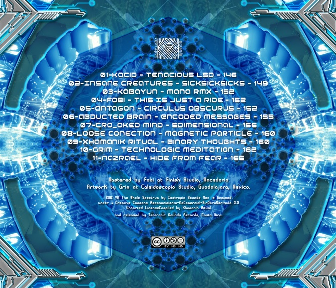 VA The Whole Spectrum Comp By Xhamanik Ritual (back) - 600