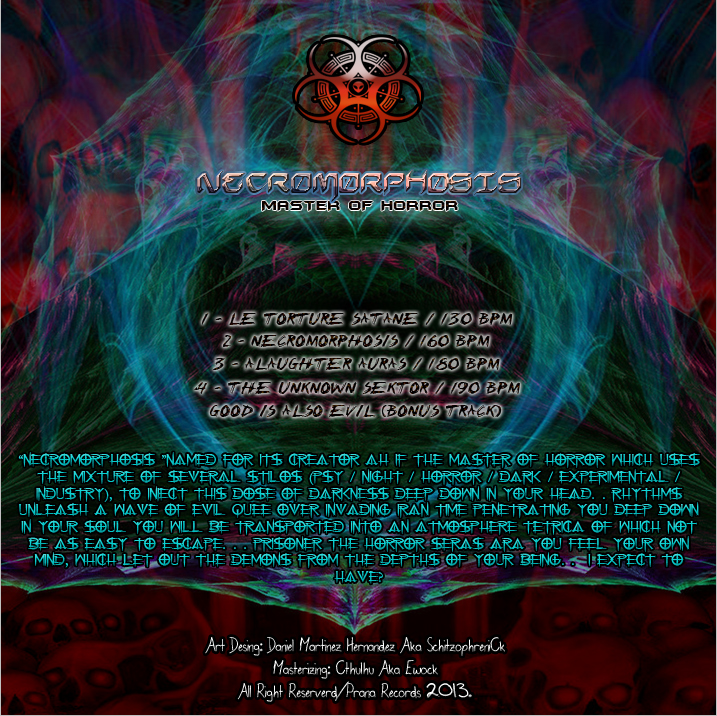 PRANA-EP001 (NECROMORPHOSIS) COVER BACK