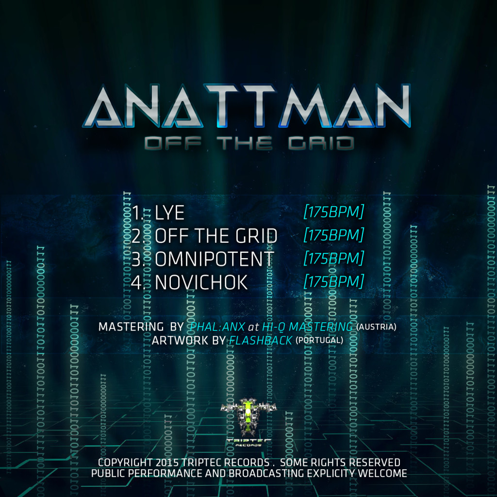 Anattman - Off The Grid (EP) Triptec Records 2015 Back